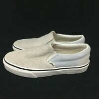 Vans Classic Slip On Fuzzy Suede Gray Gum Bottom Low Top VN0A38F7QTM