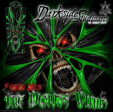 """TRAXXAS SPARTAN BOAT WRAP GRAPHICS """"THE DEMONS WITHIN"""" FITS OEM HULL PARTS DECAL"""