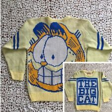 Garfield Sweater Knit Graphic Vintage 70s The Big Cat Rare Made In Usa Unisex