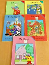 Lot of 5: BOOKS  Let's Read With THE LETTER PEOPLE  2000  WITH FREE SHIPPING