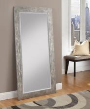 Large Full Length Floor Mirror Leaning Hammered Metal Lounge Bedroom Dressing