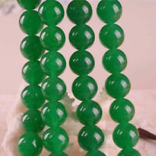 "6mm Natural Green jade Gemstones Round Jade Loose Bead 15""dd"