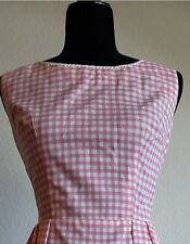 Pink Gingham 1950s 1960s Day Dress