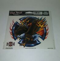 """NEW LETHAL THREAT EAGLE IRON CROSS DECAL STICKER 6""""x6"""" LT00136"""