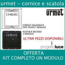 URMET 1148/61 CORNICE CON TELAIO 1 MODULO PER NUOVA SINTHESI
