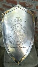 Roman Shield With A Pointed Head, And With The Lateral Margins Curved
