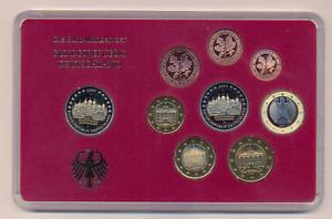 BRD 2007 F Euro Kursmünzensatz PP-Satz mit Fehlbestückung 2x 2€ Schwerin UNIKAT?