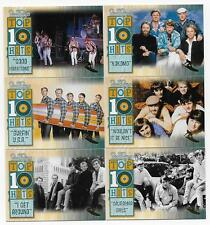 2013 Panini Beach Boys 50th Anniversary Top 10 Hits Gold Surfer Set (18 cards)