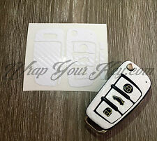 BLANC CARBONE clé housse étui AUDI télécommandé a1 a3 a4 a5 a6 a8 TT