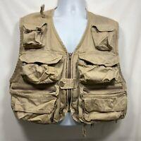 Vintage Cortland Outdoor Fly Fishing Vest Men's Size L/XL Utility Pockets Bass
