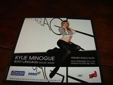 KYLIE MINOGUE BODY LANGUAGE!!!!!RARE FRENCH PROMO FLYER
