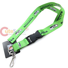 NFL Seattle Seahawks Lanyard Key Chain ID Ticket Holder - Team Logo Green