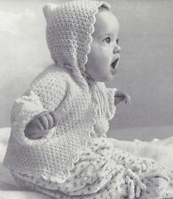Knitting PATTERN to make Baby Hooded Sweater Sacque Jacket Hoodie