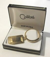 Colibri Gold Tone Eloctroplated Key Chain w/ Engraving Plate