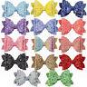 hot Kids Girls Glitter Shiny Sequin Bowknot Hair Clip Hair Bow Hairpin Headwrap