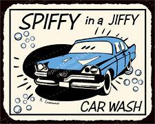 (VMA-L-6517) Car Wash Spiffy Vintage Metal Art Automotive Retro Tin Sign