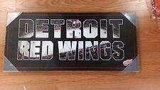 "NHL DETROIT REDWINGS PICTURE CANVAS 25""X 11"" WALL ART NEW NICE !"