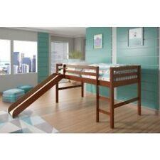 Kids Loft Beds with Slide - Espresso
