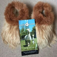 Beautiful Caramel & Chestnut Toft Alpacas Slippers Size UK 5. Sheepskin Lined
