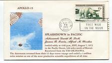 1971 Apollo 15 Splashdown in Pacific Scott Irwin Worden USS Okinawa Space Cover