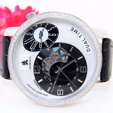 Richard & co.Men's 1.00CTW  Dia. Dual Time Automatic Black Bd RC3006- MUST SELL