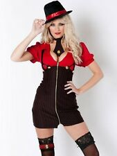 Ann Summers Miss Mafia Gangster Sexy Fancy Dress size 12 hen outfit costume