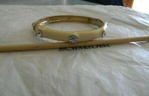 Premier Designs CREME BRULEE beige gold bangle bracelet RV $37 free ship nwt