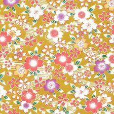 DUAL-SIDED Color Yuzen washi paper 22x31 cm. wb82