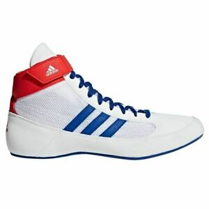 Adidas Havoc Wrestling Shoes Boxing Boots Trainers Pumps Mens Adults White HVC