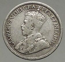 1916 CANADA - Original Antique Silver 10 Cents Coin under King GEORGE V i56802