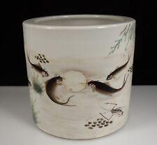 Chinese Qianjiang Porcelain Brush Holder Pot
