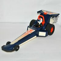FISHER-PRICE ADVENTURE PEOPLE WHEELIE DRAGSTER in Blue from 1980, VGC & Working
