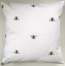 """Cushion Cover in Joules White Bees 16"""""""