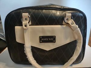 Mary Kay Large Tote-Overnight-Carry On-Consultant-Organizer-Black/Beige Bag