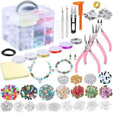 kit bisuteria para hacer pulseras collares de aretes accesorios material para