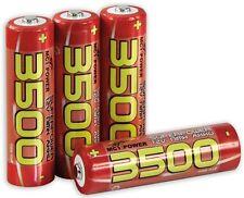 F4 x Mignon AA High Power Akku McPower AA 1,2 V 3500 mAh NiMH Batterie langlebig