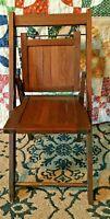 Vintage Child's Folding deck Chair - Wood RARE!!! Antique original wood