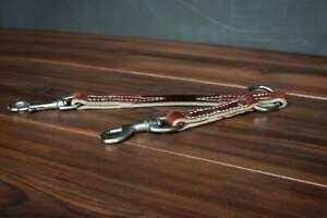 Leerburg's Latigo Leather Prong Collar Adapter - Stainless Steel Hardware