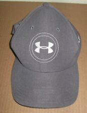 Under Armour golf gray fitted baseball cap M/L hat OSFA polyester MD/LG