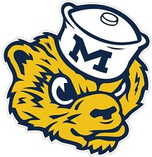 "University Of Michigan Wolverines Color Vinyl Decal - You Choose Size 2""-28"""
