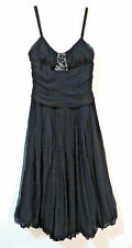BCBG Maxazria Black Silk Chiffon Dress 4 XS 31 Bust