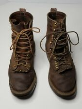 MENS WHITES BOOTS BROWN LEATHER BOOTS Size 7.5 E 1003