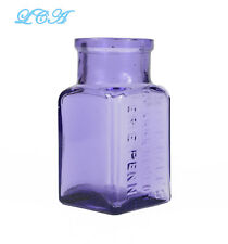 Small PRISTINE Purple DOCT HALL'S CATARRH REMEDY Erie PA old PATENT MED bottle