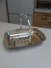 Late 20th Cent Indian Mango Plate Silver Plated Rectangular Fruit Bowl (1572)