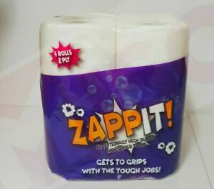 48 x ZAPPIT™ Kitchen Roll  10m Rolls( Micro Absorbent Technology) paper towel