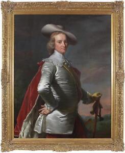 Thomas Hudson 1701-1779 Huge Large Fine Antique Old Master Oil Portrait Painting