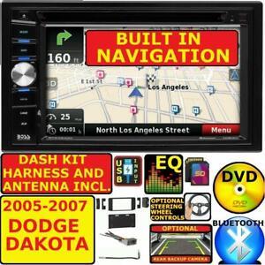 20045 06 2007 DODGE DAKOTA BLUETOOTH DVD GPS NAVIGATION SYSTEM CAR RADIO STEREO