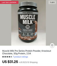 Muscle Milk Pro Series Protein Powder, Knockout Chocolate, 50g Protein, 2.54