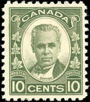 Mint H Canada 10c 1931 F-VF Scott #190 Cartier Issue Stamp