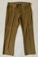 Woolrich Carmel Brown Corduroy Flat Front Straight Leg Pants Mens Sz 32x30 VGUC